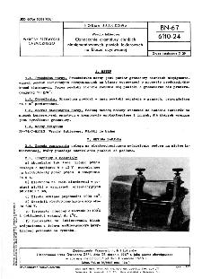 Wyroby lakierowe - Oznaczanie gramatury cienkich niepigmentowanych powłok lakierowych na blasze ocynowanej BN-67/6110-24