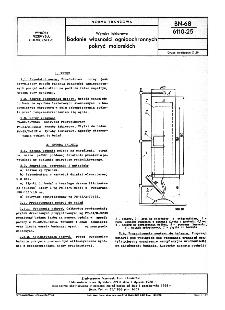Wyroby lakierowe - Badanie własności ognioochronnych pokryć malarskich BN-68/6110-25