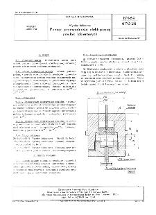 Wyroby lakierowe - Pomiar przewodności elektrycznej powłok lakierowych BN-69/6110-28
