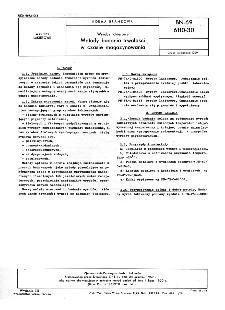 Wyroby lakierowe - Metody badania trwałości w czasie magazynowania BN-69/6110-30
