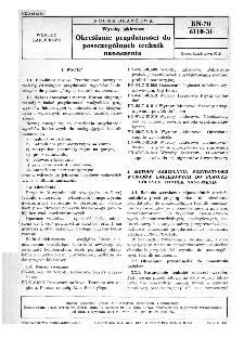 Wyroby lakierowe - Określanie przydatności do poszczególnych technik nanoszenia BN-70/6110-31