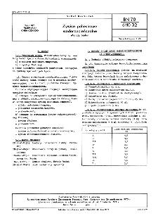 Żywice poliestrowe wodorozcieńczalne - Metody badań BN-70/6110-32