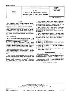 Wyroby lakierowe - Określanie odporności powłok lakierowych na działanie światła BN-71/6110-33