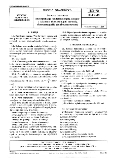 Surowce lakiernicze - Identyfikacja podstawowych olejów i kwasów tłuszczowych metoda chromatografii cienkowarstwowej BN-72/6110-34