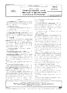 Wyroby lakierowe - Określanie odporności powłok lakierowych na działanie światła wewnętrznego (ksenonowego) BN-76/6110-35
