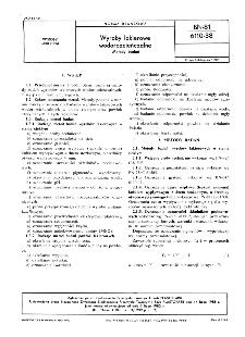 Wyroby lakierowe wodorozcieńczalne - Metody badań BN-81/6110-38