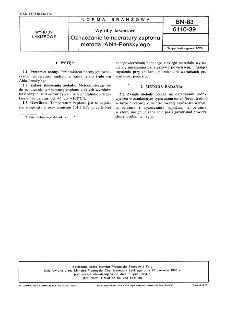 Wyroby lakierowe - Oznaczanietemperatury zapłonu metodą Abla-Pensky'ego BN-83/6110-39