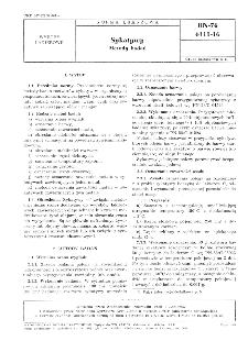 Sykatywy - Metody badań BN-76/6111-16