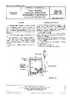 Folie i tkaniny z tworzyw sztucznych stosowane w górnictwie - Oznaczanie trudnopalności BN-78/6301-07