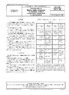 Tworzywa sztuczne - Metody badań odporności na działanie środków chemicznych stosowanych w agrolotnictwie BN-80/6301-09