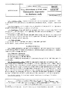 Folia z uplastycznionego polichlorku winylu - Oznaczanie odporności na działanie wody BN-65/6350-01