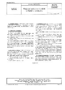 Wytyczne wykonania kształtek do badań z polietylenu BN-72/6360-01