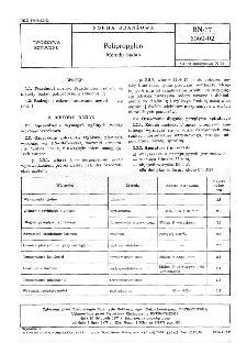 Polipropylen - Metody badań BN-77/6360-02