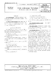 Folia wiskozowa (Tomofan) - Oznaczanie zawartości gliceryny BN-85/6385-03-05