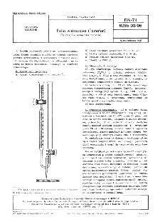 Folia wiskozowa (Tomofan) - Oznaczanie zawartości mocznika BN-74/6385-03-06