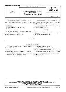Materiały tapicerskie dla motoryzacji - Metody badań - Oznaczanie masy 1 m² BN-79/6390-01-03