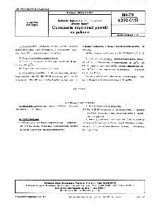 Materiały tapicerskie dla motoryzacji - Metody badań - Oznaczanie odporności powłoki na pękanie BN-79/6390-01-13