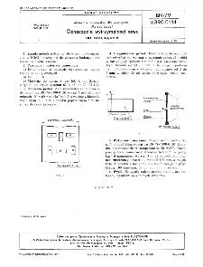Materiały tapicerskie dla motoryzacji - Metody badań - Oznaczanie wytrzymałości szwu na rozciąganie BN-79/6390-01-14