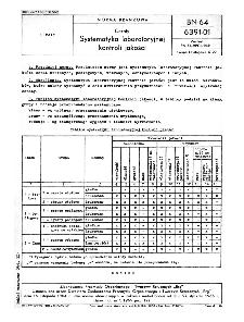 Ceraty - Systematyka laboratoryjnej kontroli jakości BN-64/6391-01