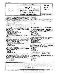 Gazownictwo - Nazwy i określenia związane zprodukcją i uzdatnianiem paliw gazowych - Produkty, półprodukty i odpady BN-75/0540-01 Arkusz 07