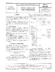 Produkty węglopochodne - Olej naftalenowy BN-71/0514-05