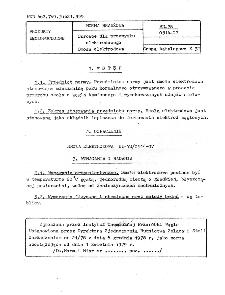 Surowce dla przemysłu elektrodowego - Smoła elektrodowa BN-78/0514-07