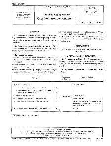 Produkty węglopochodne - Olej kumaronowo-indenowy BN-70/0517-09