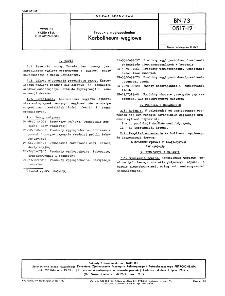 Produkty węglopochodne - Karbolineum węglowe BN-73/0517-12