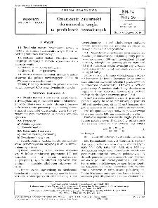 Oznaczanie zawartości dwusiarczku węgla w produktach benzolowych BN-74/0511-26