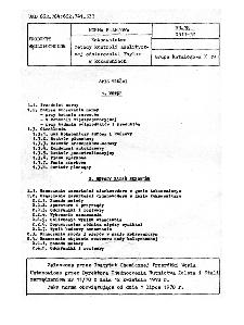 Koksownictwo - Metody kontroli analitycznej odsiarczalni Thylox w koksowniach BN-78/0511-32