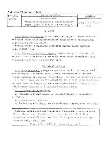 Koksownictwo - Oznaczanie zawartości zanieczyszczeń organicznych w wodach koksowniczych BN-87/0511-37