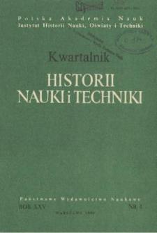 Kwartalnik Historii Nauki i Techniki R. 25 nr 1/1980