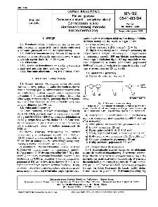 Paliwa gazowe - Oznaczanie siarki i związków siarki - Oznaczanie siarki siarkowodorowej metodą kolorymetryczną BN-92/0541-03-04