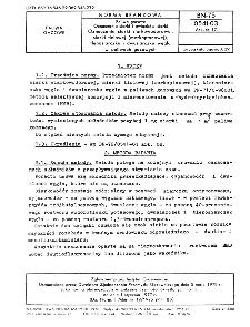 Paliwa gazowe - Oznaczanie siarki i związków siarki - Oznaczanie siarki siarkowodorowej, siarki tiolowej (merkaptanowej), tlenosiarczku i dwusiarczku węgla w paliwach gazowych BN-75/0541-03 Arkusz 17