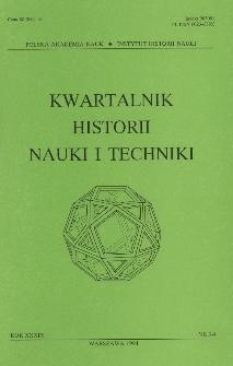 Kwartalnik Historii Nauki i Techniki R. 39 nr 3-4/1994