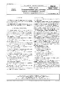 Paliwa gazowe - Oznaczanie składu gazu ziemnego metodą chromatografii gazowej - Oznaczanie zawartości metanolu BN-82/0541-12-02
