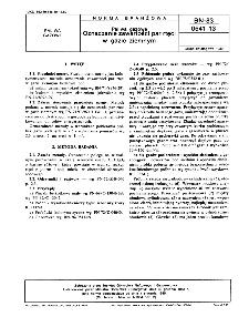 Paliwa gazowe - Oznaczanie zawartości par rtęci w gazie ziemnym BN-83/0541-13