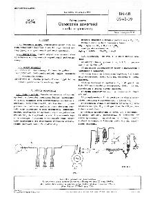 Paliwa gazowe - Oznaczanie zawartości siarki organicznej BN-68/0543-09