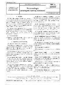 Terminologia przemysłu żywicy sosnowej BN-71/6070-01