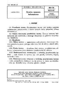 Żywica sosnowa balsamiczna BN-78/9235-01