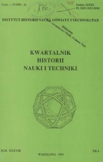 Kwartalnik Historii Nauki i Techniki R. 38 nr 4/1993