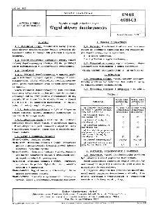 Wyroby z węgli uszlachetnionych - Węgiel aktywny depolaryzacyjny BN-68/6081-03