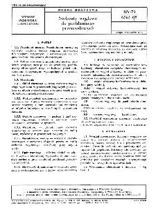 Sorbenty węglowe do pochłaniaczy przemysłowych BN-79/6081-08