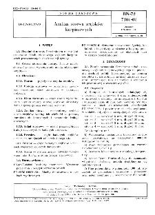 Analiza sitowa zrębków karpinowych BN-72/7101-01