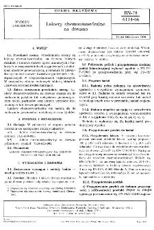 Lakiery chemoutwardzalne na drewno BN-78/6114-66