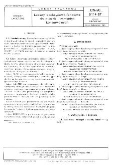 Lakiery epoksydowo-fenolowe do puszek i zamknięć konserwowych BN-90/6114-67