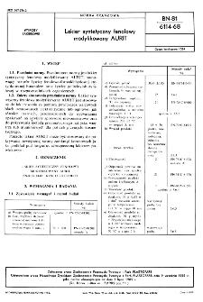 Lakier syntetyczny fenolowy modyfikowany AURIT BN-81/6114-68