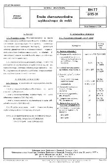 Emalie chemoutwardzalne szybkoschnące do mebli BN-77/6115-01