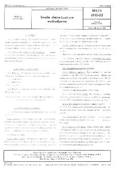 Emalie olejno-żywiczne wodoodporne BN-75/6115-02