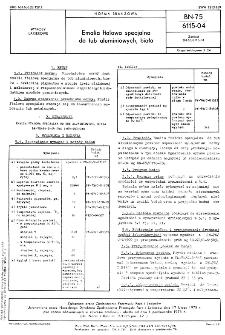 Emalia ftalowa specjalna do tub aluminiowych, biała BN-75/6115-04